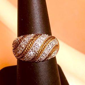 Wow! .52ctw H-SI Diamond 14K/925 Dome Ring.